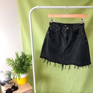 SPORTSGIRL BLACK DENIM SKIRT